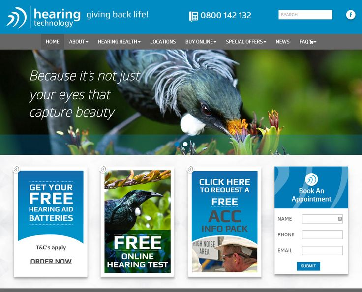 Website for New Zealand based hearing technology company.