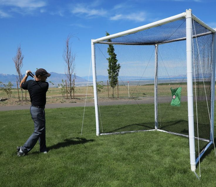 Turn your backyard into a driving range with this full size professional golf practice driving net by Airgoal