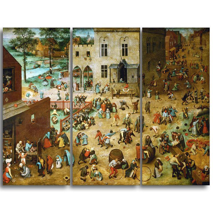 Design Art 'Pieter Bruegel - Children's Games' Art Print