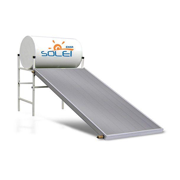 Agua caliente continua. Colector solar de alta resistencia y durabilidad. Recubrimiento exterior de pintura electrostática. 4 personas. Incluye base metálica plegable para fácil instalación para el soporte del termo tanque. Incluye válvula de drenado.