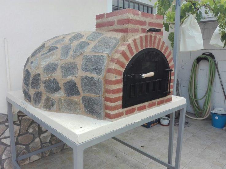 Horno de Pereruela montadocon soporte por Alfarería Duero en Sastago, Zaragoza.