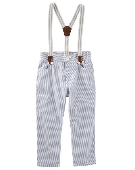 Suspender Seersucker Pants from OshKosh B'gosh. Shop clothing & accessories from a trusted name in kids, toddlers, and baby clothes.