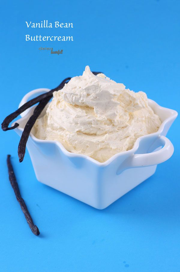 Vanilla Bean Buttercream. Two whole vanilla beans scraped clean. from #dietersdownfall.com