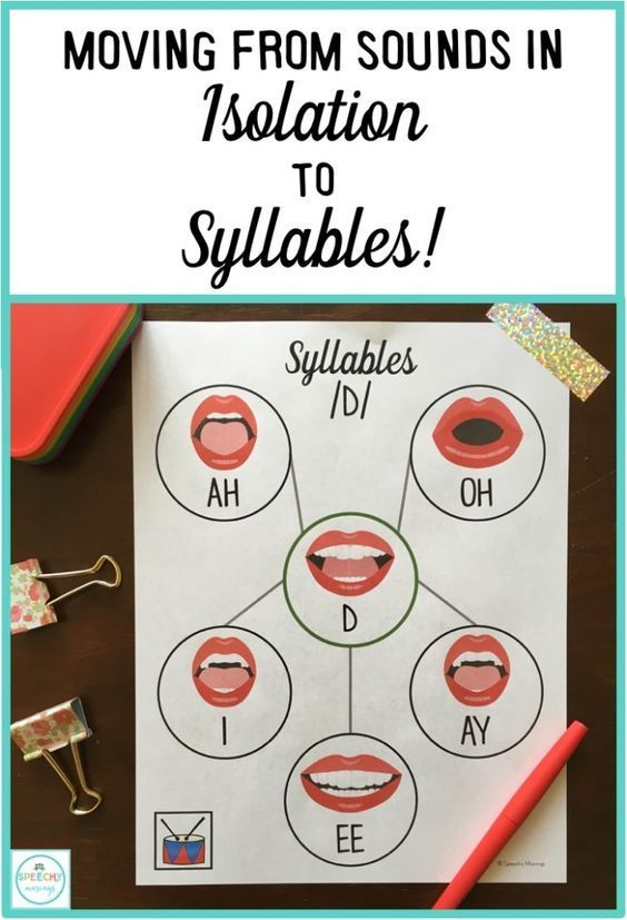 How I gets my students to successfully move from producing sounds in isolation to syllables during articulation and phonology sessions! From Speechy Musings.