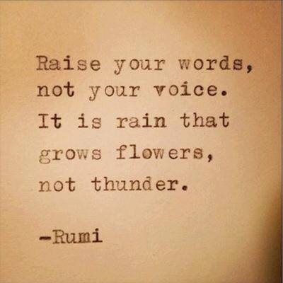 Food for thought. Today, make the flowers grow! #quote