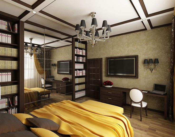 Дизайн интерьера гостевой спальни.