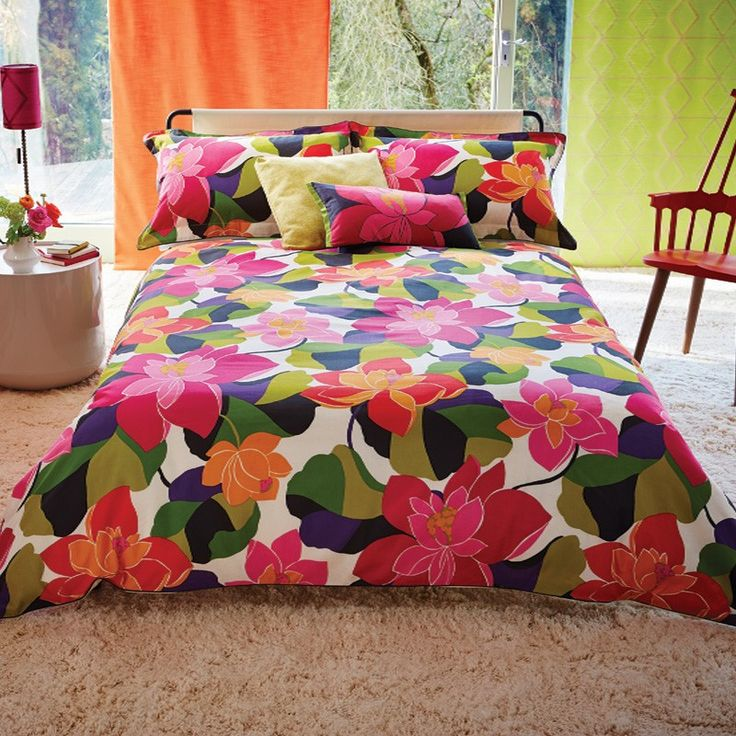 funky floral bedding scion diva bed linen at bedeck home