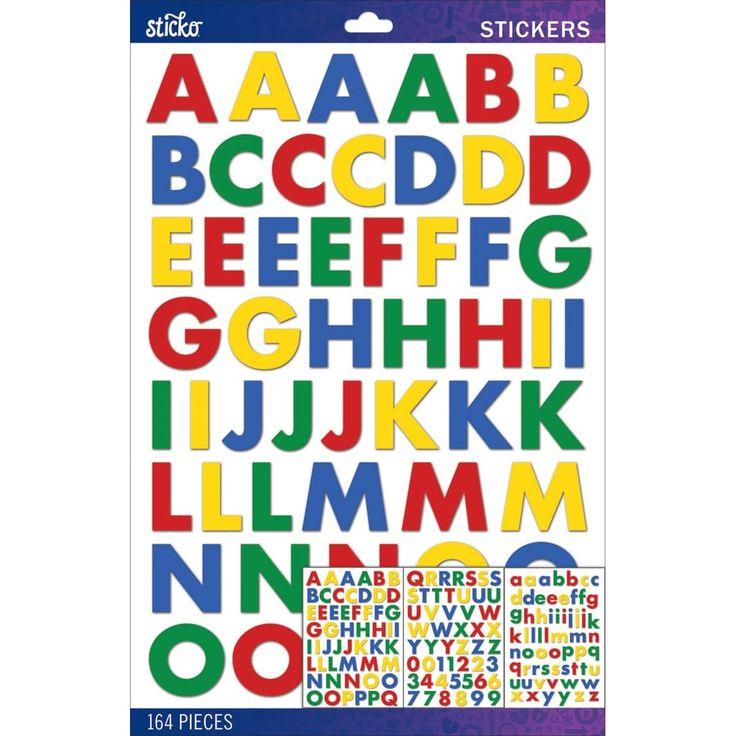 Sticko Alphabet Stickers-Primary Futura Bold Large - primary futura bold large