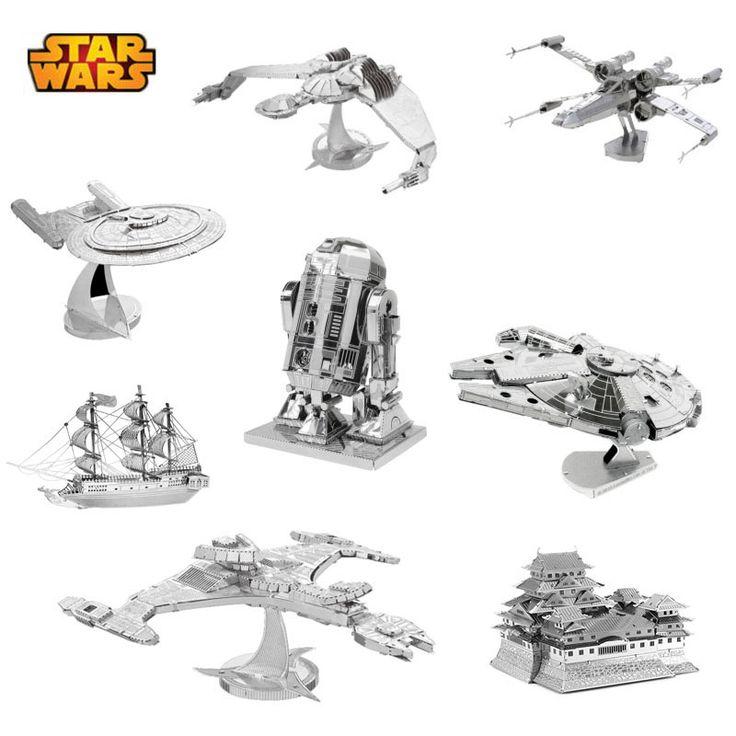 Hot Sale Puzzle Toys Maquetas Star Wars Metal Building Kits 3D Scale Models DIY Metallic Nano Puzzle Toys