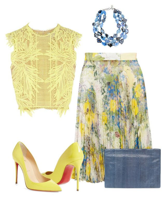 Untitled #2491 by hope-houston on Polyvore featuring Erdem, Christian Louboutin, Deux Cuirs and Nest