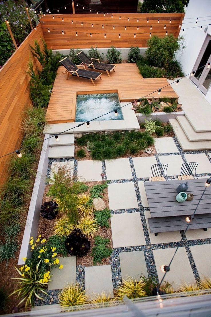 image result for modern landscape design river stone and pavers  modernlandscaping