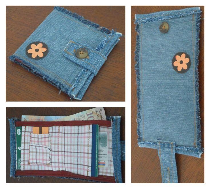 Billetera hecha en jeans