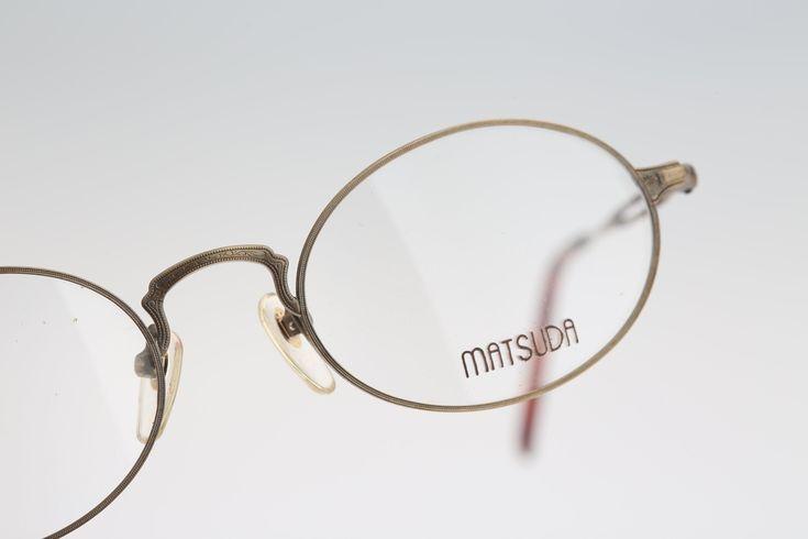 Vintage oval eyeglasses, Matsuda 2876 AG – 90s unisex optical frame / NOS – Vintage eyeglasses frames