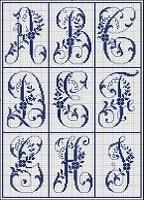 cross stitched alphabet