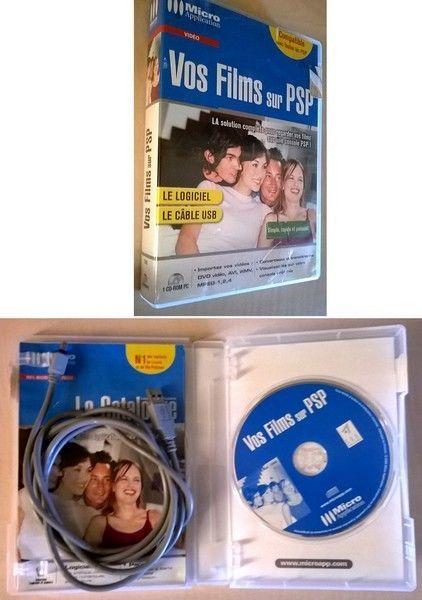 Logiciel pour PC Windows Micro Application - Vos Films sur PSP