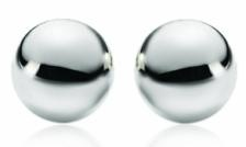 BEAUTIFUL!  $4 for a Pair of Sterling Silver Tiffany Inspired Ball Earrings - Taxes Included ($ 69 Value)