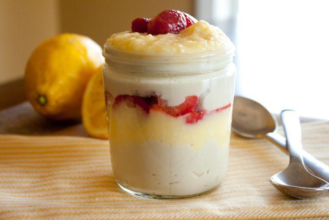 Strawberry Lemon Curd Coconut Milk Pudding   simplerootswellness.com