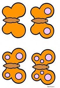 * Vlinders (logiset) - oranje 4-6 mini bataille