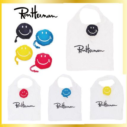 Ron Herman トートバッグ 【ロンハーマン限定アイテム】16SS♪ RH Smiley Grocery Tote4色