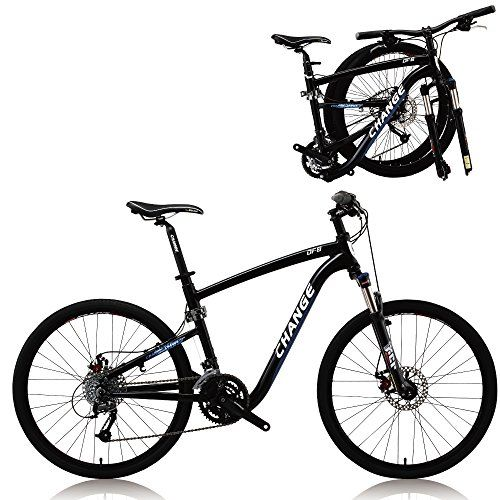 Change 26 Inch Full Size Mountain Folding Bike Shimano 27 Speeds