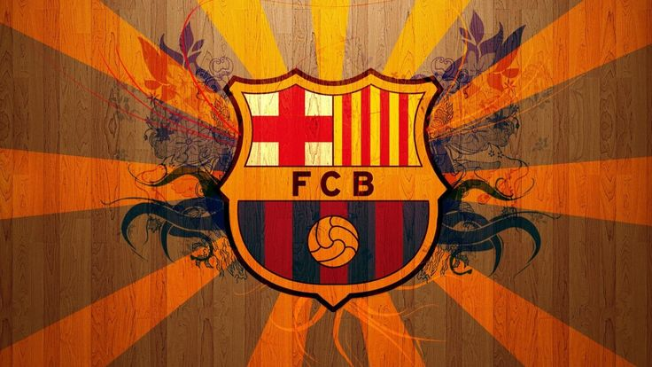 FC BARCELONA crest in yellow, red and blue