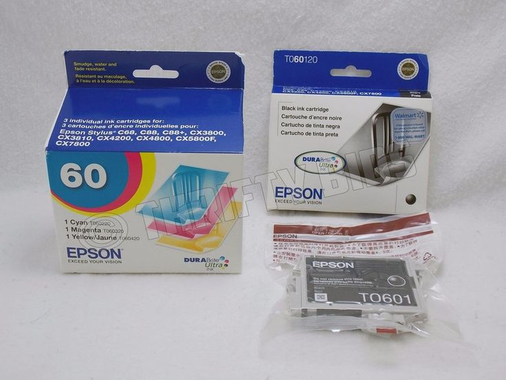 Genuine Sealed Epson Ink Cartridge TO601 TO602 5pc BMCY EXP 2011-2012 As Is #Epson