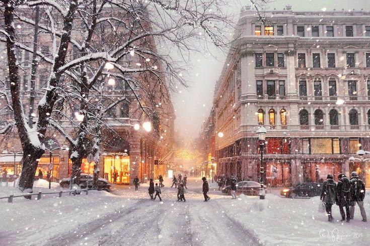 Winter in Helsinki by Pajunen on DeviantArt