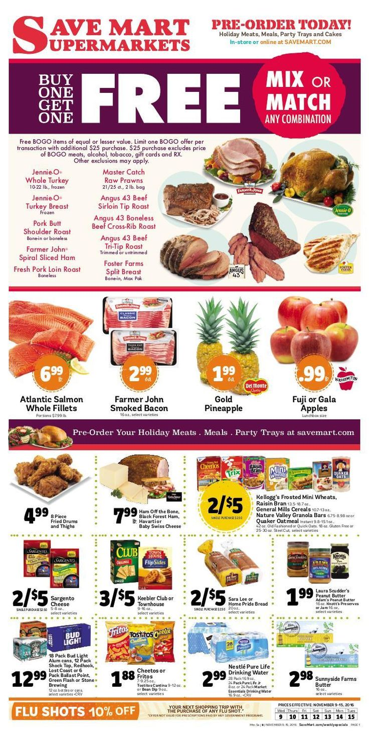 Save Mart Weekly ad November 9 - 15, 2016 - http://www.olcatalog.com/save-mart/save-mart-weekly-ad.html