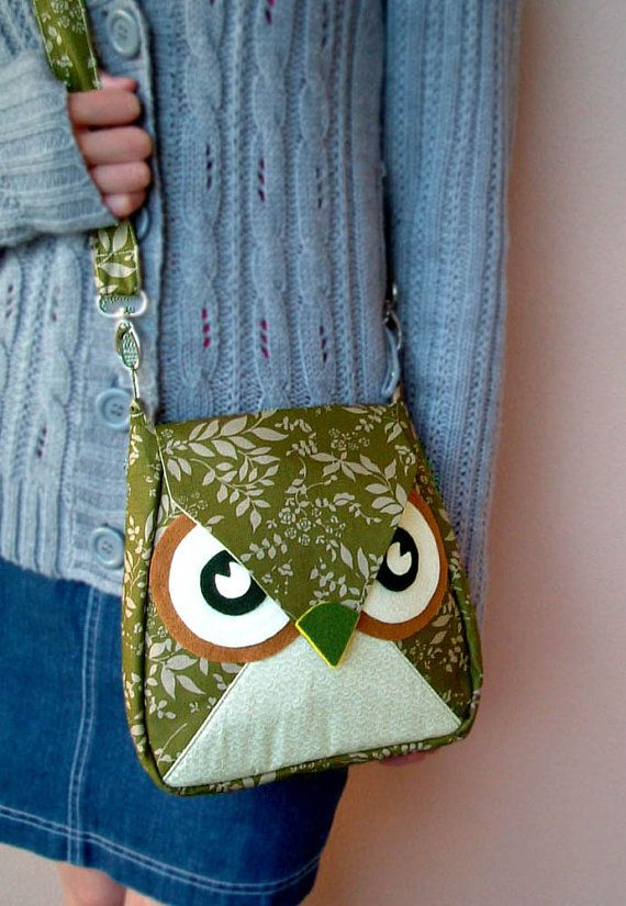 105 OFF Leafly the Green Leaf Flip Owl Bag by HandmadeIsAllAround, $34.00