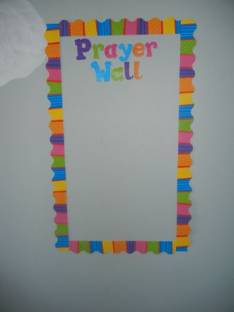 I would love to do a prayer wall at church for the kids!