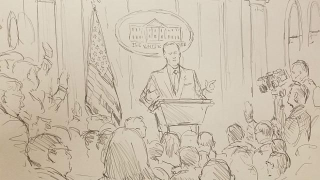 CNN brings courtroom sketch artist to White House press briefing ...