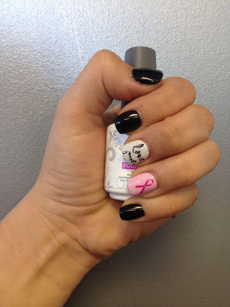 No Chip Polish / Breast Cancer Nails #shellac & # Gelish