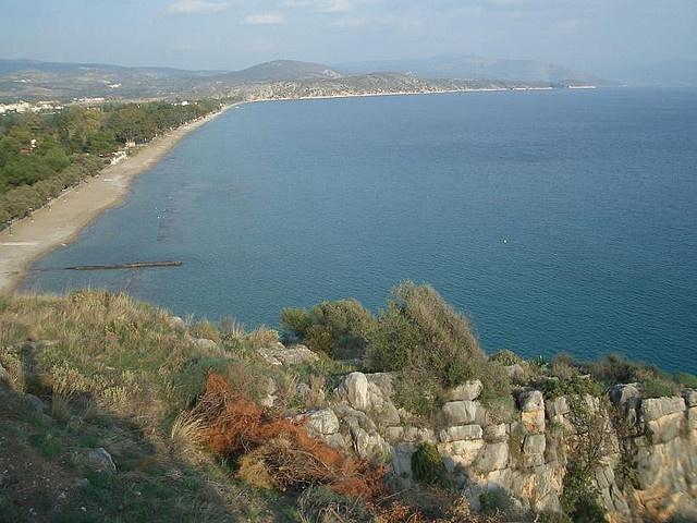 Plaka Beach in Drepano, Argolida, Peloponnese.