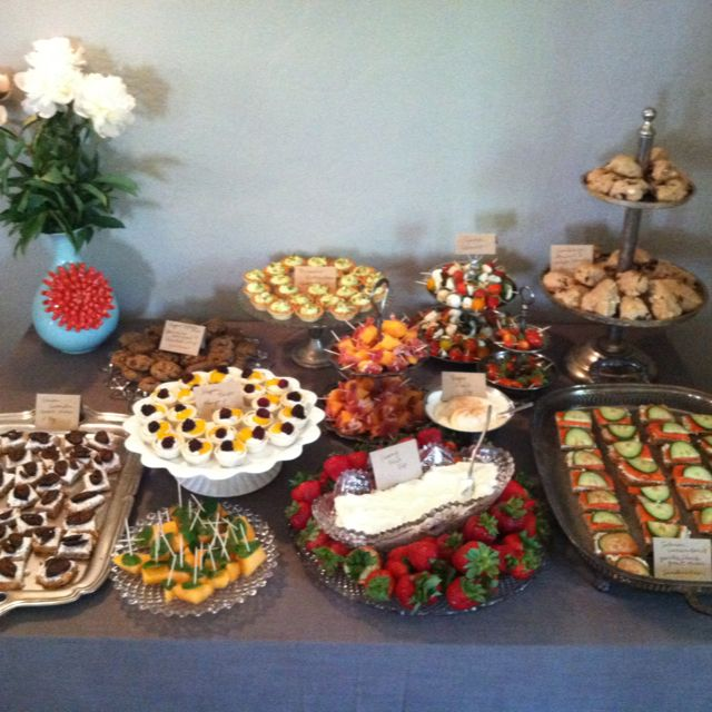 Bridal tea & lingerie shower finger foods...