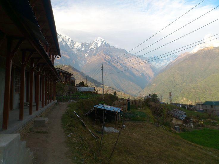 Mountain View from Ghandruk #trekking #Gurung #village #Ghandruk #Ghandrung #hospital #travel
