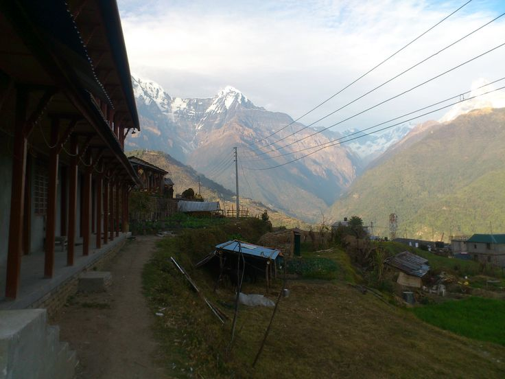 Mountain View from Ghandruk #trekking #Gurung #village #Ghandruk #Ghandrung #hospital #travel