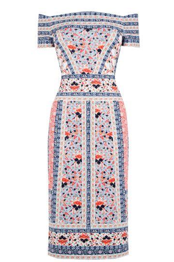V&A Print Bardot Dress Oasis