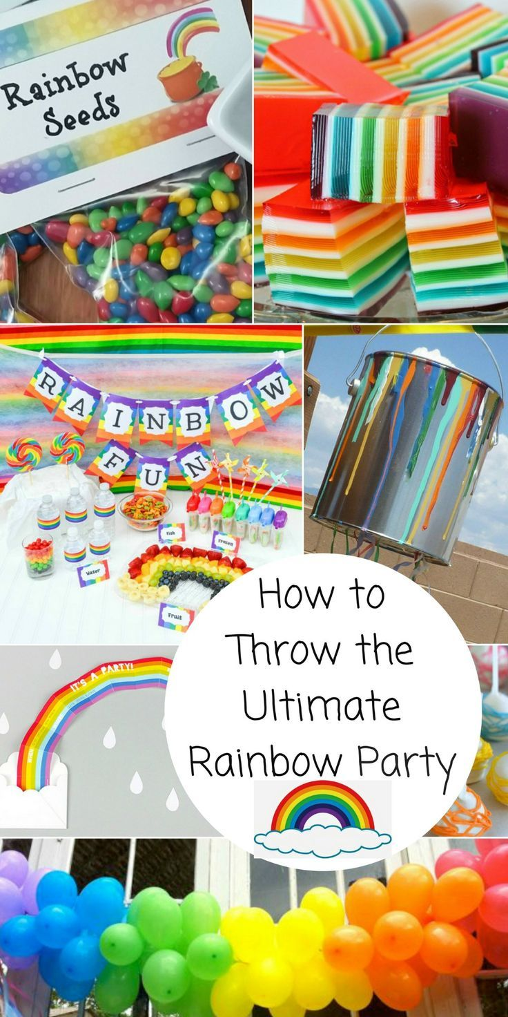 How to Throw the Ultimate Rainbow Party at thatbaldchick.com