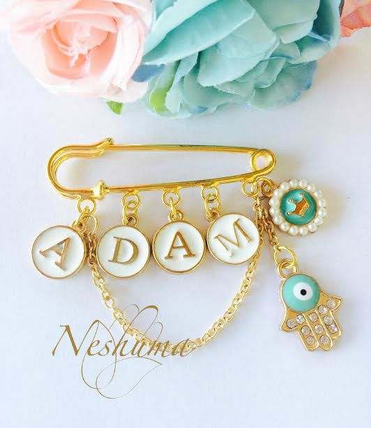 17 best jewish baby judaica baby gifts images on pinterest personalized baby gift baby pin evil eye pin baby name pin initials pin stroller pin baby negle Choice Image