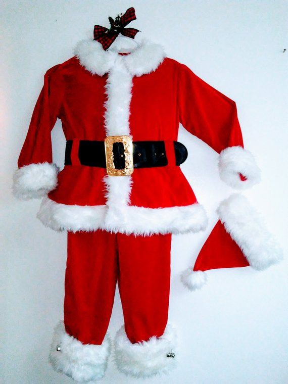 Custom Wool Or Velvet Santa Claus Suit Costume Built To Your