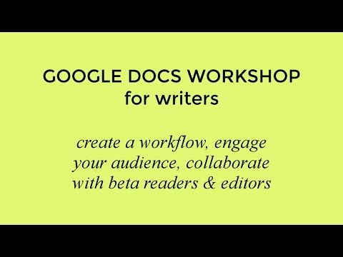 New video! >> Google Docs Workshop for Writers (+ workflow checklist) | http://www.youtube.com/watch?v=92Kv3EOZFas #amwriting