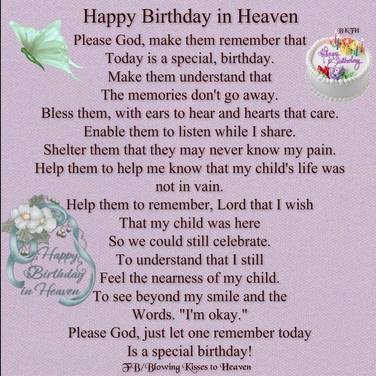 Happy Birthday In Heaven Memorials
