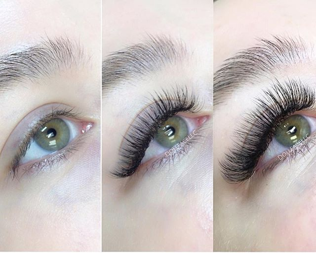 """32fd74b9763 Dollface Lashes & Beauty on Instagram: """"These eyelashes were given a drama  makeover. Wow! ⭐ The beauty of eyelash extensions is that they're not ..."""