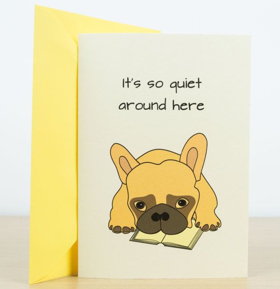 MISS YOU card - hand made greeting card, miss you card, personalized cards, dog…