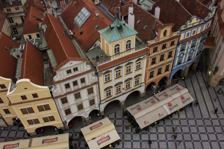 Prague Old Town Street - From above.