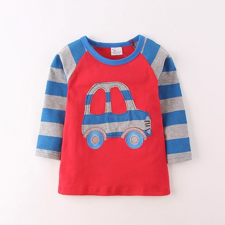 >> Click to Buy << Brand  Boys T Shirt Long Sleeve O-neck Stripe Cartoon Reima Tshirt Kids Kawaii Nova Clothing Cute Car Camiseta Menino Wholesale #Affiliate
