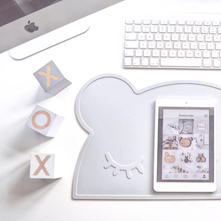 Grey bear placemat for big kids too at bluebrontide.com #desklife