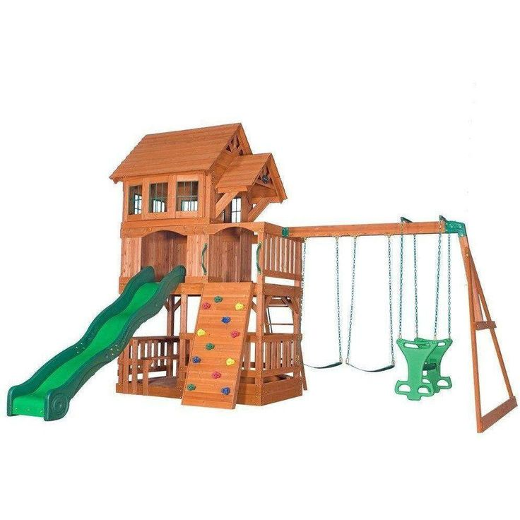 17 best ideas about wooden swing sets on pinterest for Log swing plans