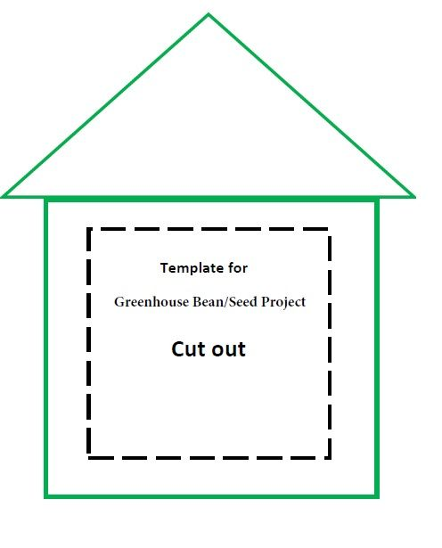 Greenhouse Bean Seed Project Template For Gardening Preschool