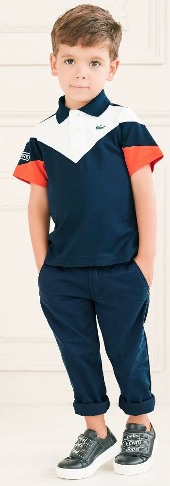 Sale! BOSS Boys Blue Chino Trousers and Lacoste Polo Shirt for  Fall Winter 2018. Daddy & Me Look for Boys Inspired by the Hugo Boss Men's Collection. Shop at Childrensalon (affiliate) #boss #hugoboss #kidsfashion #fashionkids #childrensclothing #girlsclothes #boysclothing #boysfashion #diesel #minime #cute #boy #kids #fashion